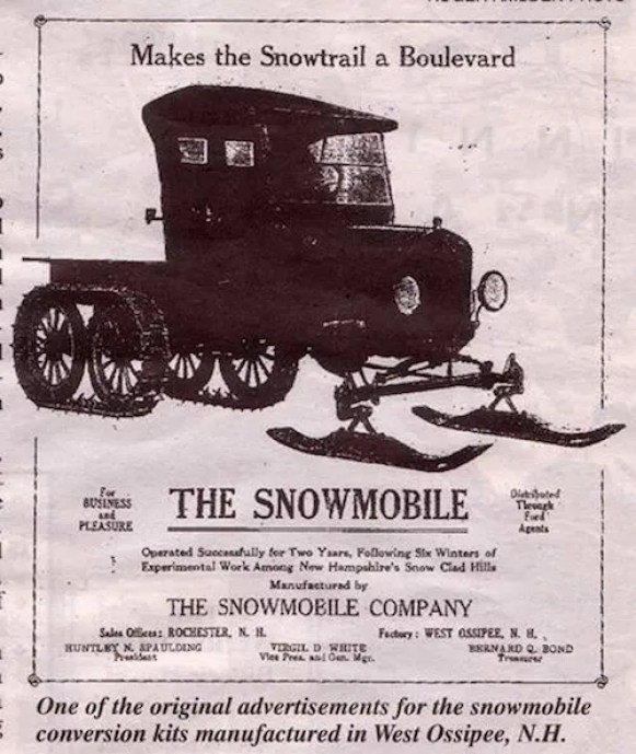The Snowmobile Ad New Hampshire USA
