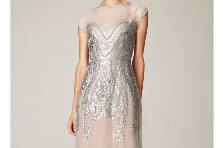 silver pearl beaded short prom dress 38874larger