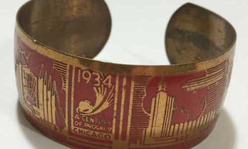 Chicago Vintage Chicago World's Fair Bracelet 1933 at Vintage Garage Chicago.