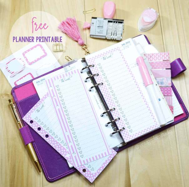 Personal Planner Insert Lists