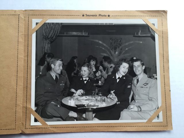 WWII 1940s Souvenir Photo Holder San Diego w/ Miltary Couples at Night Club