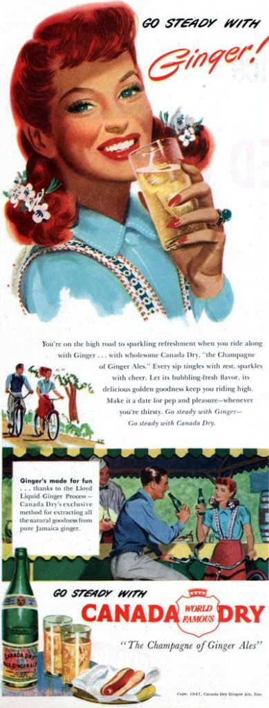 1947 Canada Dry Ginger Ale Vintage Ad