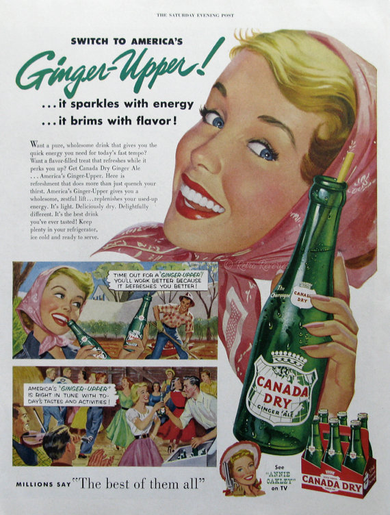 1954 Canada Dry Ginger Ale Ad