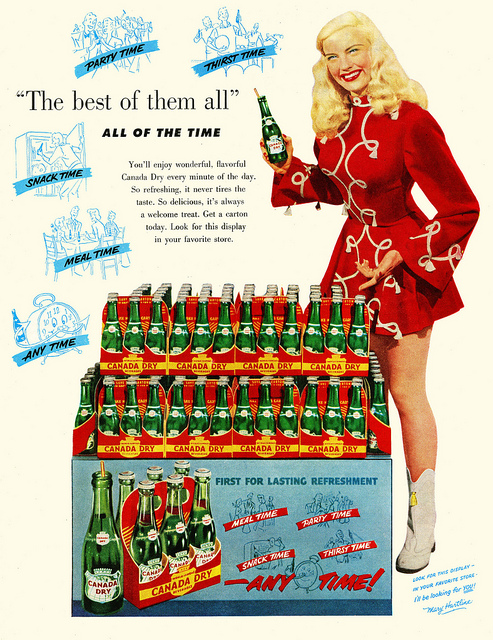 1951 Canada Dry Ginger Ale Vintage Ad Mary Hartline