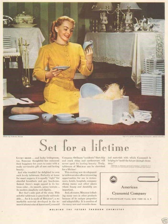 1940s Melmac vintage ad