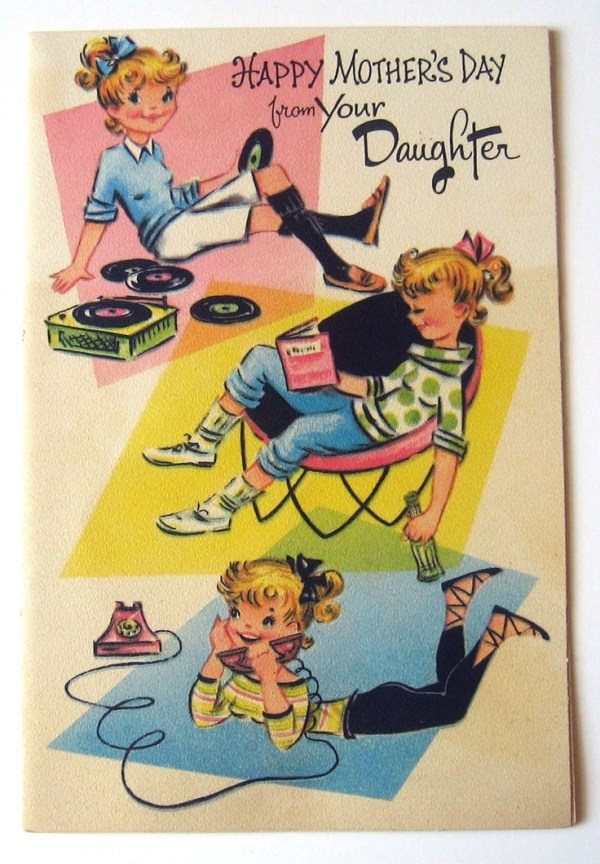 1950s vintage mothers day card