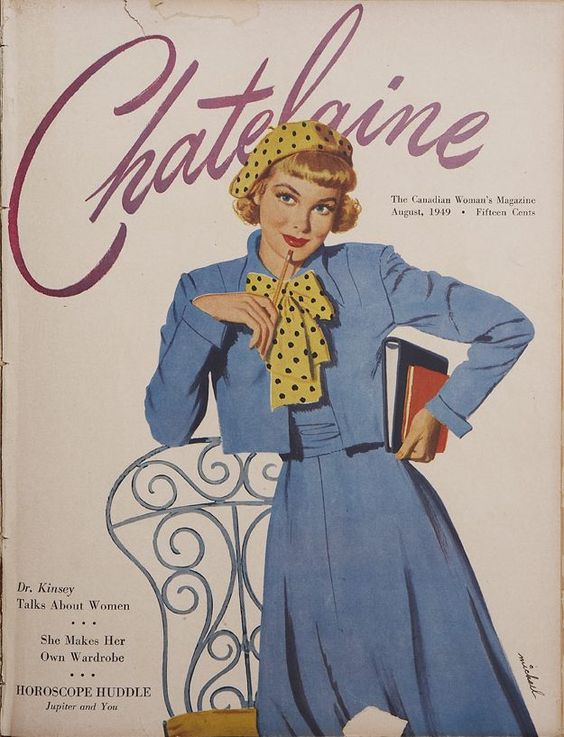 August 1949 Vintage chateline magazine cover