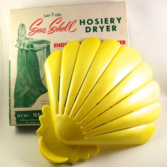 Vintage SafTDri Seashell Hosiery Dryer 1950s