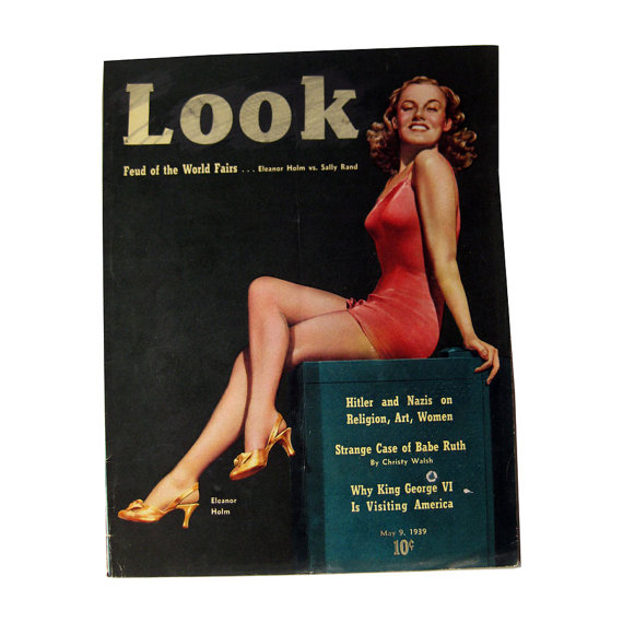 Vintage Look Magazine 1939 Eleanor Holm Cover