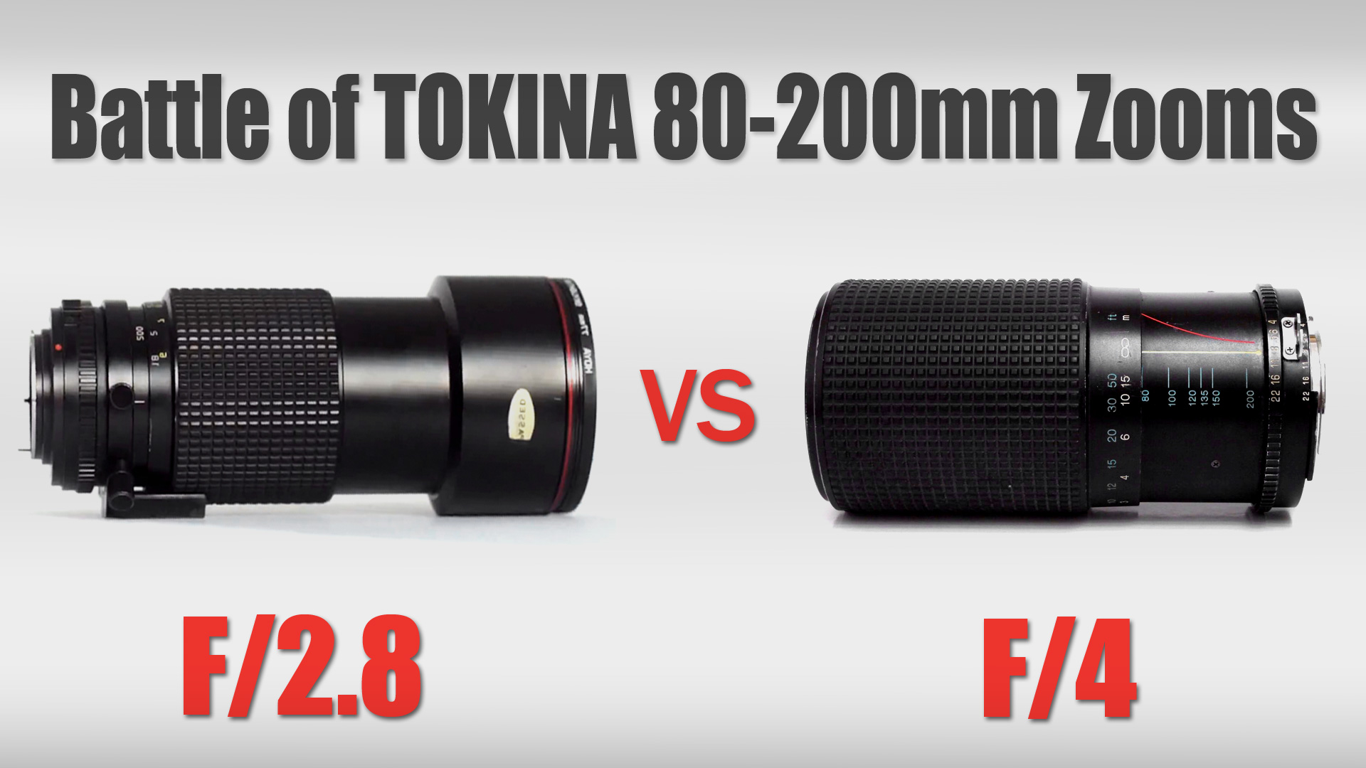 Battle of Tokina 80-200 Zooms | F2.8 vs F4