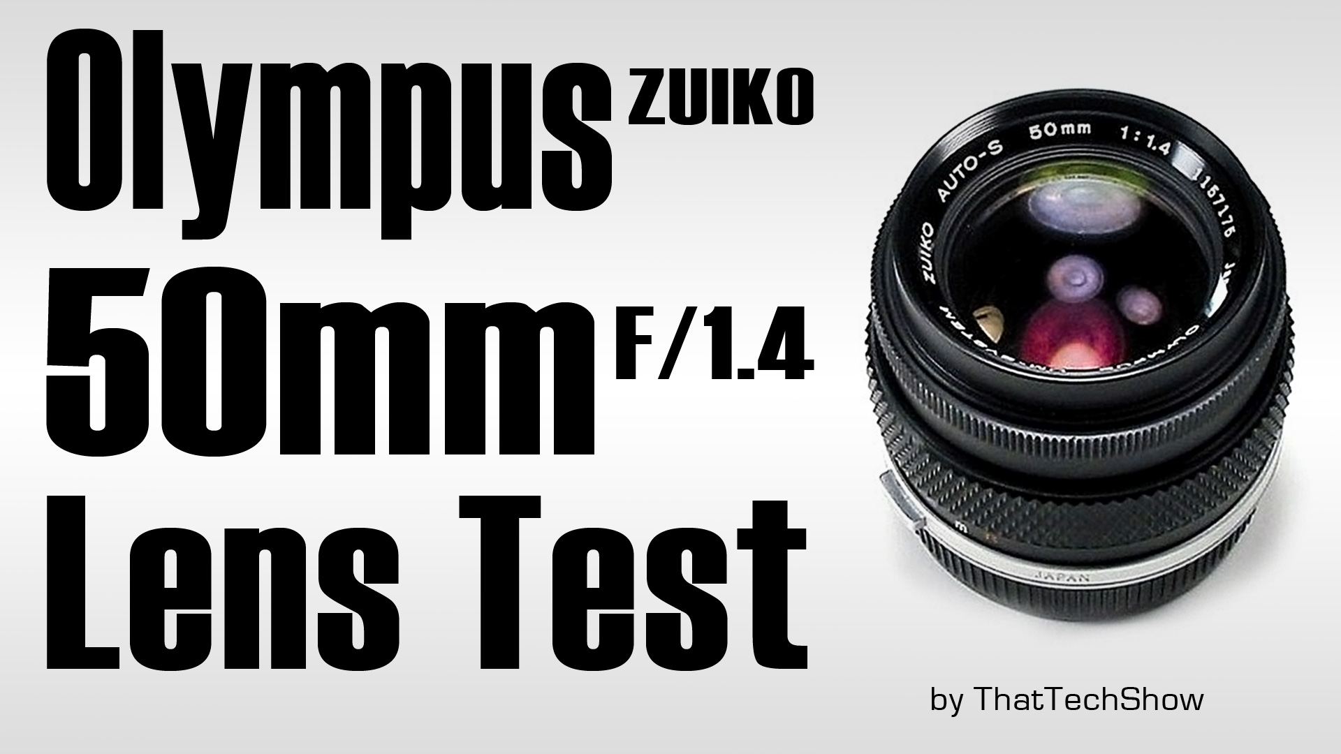 Olympus Zuiko 50mm f/1.4 Test Video