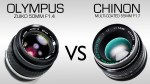 Olympus Zuiko 50mm F1.4 VS Chinon Multi-Coated 55mm F1.7