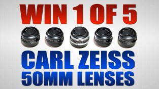 WIN 1 of 5 CARL ZEISS 50mm Lenses