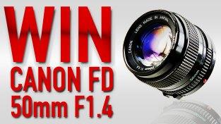WIN CANON FD 50mm F1.4 LENS