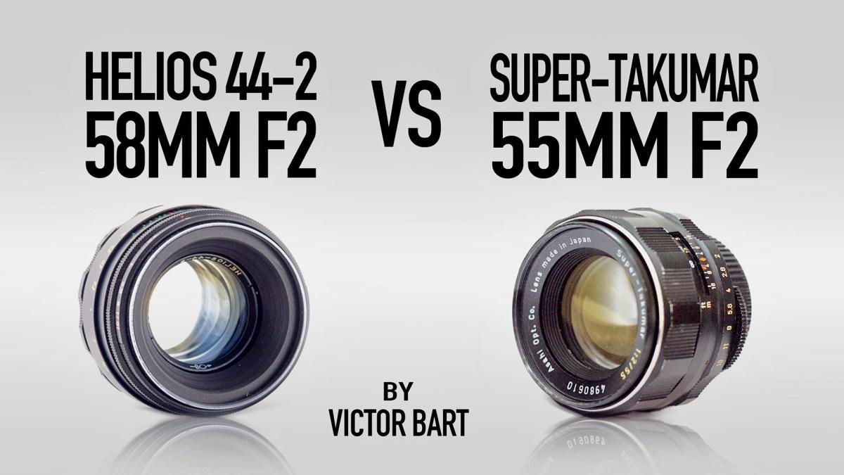 Super-Takumar 55mm F2 vs Helios 44-2 58mm F2