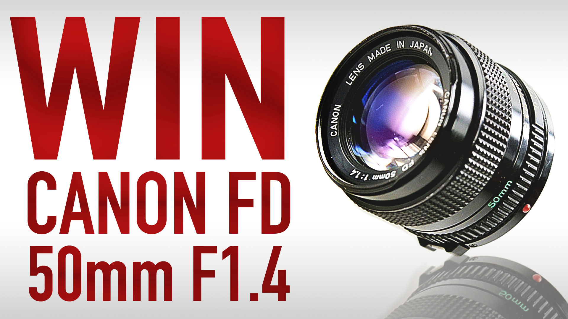WIN CANON FD 50mm F1.4 LENS | February Vintage Lens Giveaway