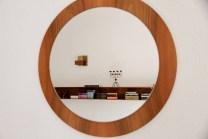 Vintage Spiegel im Wohnzimmer
