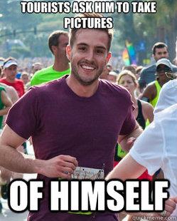 Ridiculously Photogenic Guy - tourists