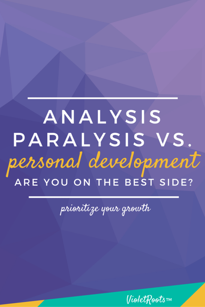 Analysis Paralysis vs. Personal Development: Are You On the Best Side? - Don't end up in a cycle of constant learning and never doing. Know the difference between analysis paralysis vs. personal development and take action! Put what you've learned as a creative to use and take your blog, business, hobbies and creative to the next level! Sign up here . . . it's free! http://bit.ly/creative-life
