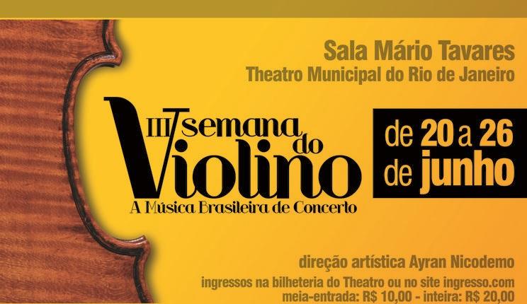 Vem aí a 3ª Semana do Violino