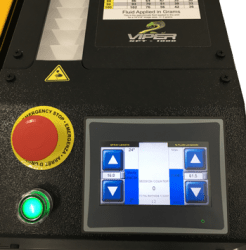 Viper XPT-1000 Pretreatment Machine - Touchscreen Closeup for DTG