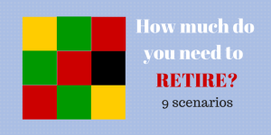 How much will you need to Retire? Updated Calculator with 9 scenarios
