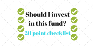 Should I invest in this fund? Use this 20 point MF Selection checklist