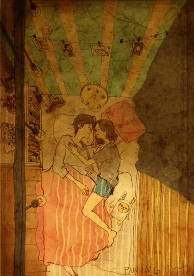 amor-detalles-Puuung-artista-ilustraciones-cama