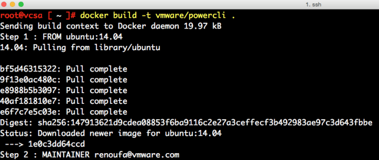 docker-container-on-vcsa-6-5-0
