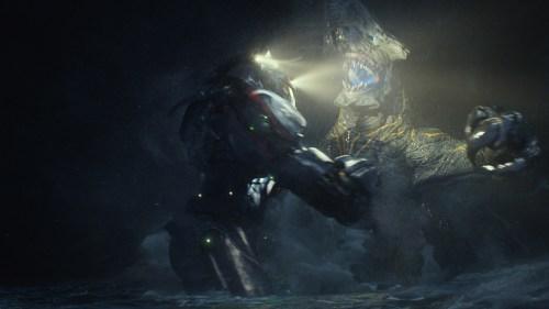 Sur cette image, le réalisme du monstre est fantastique, on croirait voir un costume en caoutchouc.  Malgré la 3D j'ai aussi eu cette belle impression à un moment. À confirmer en 2D ?