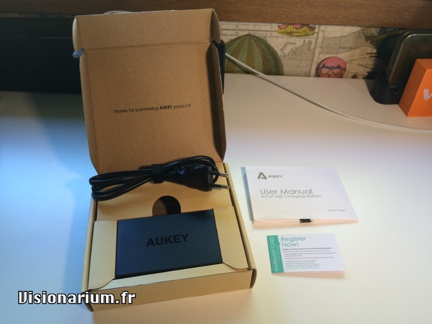 test chargeur Aukey sur Amazon : unboxing