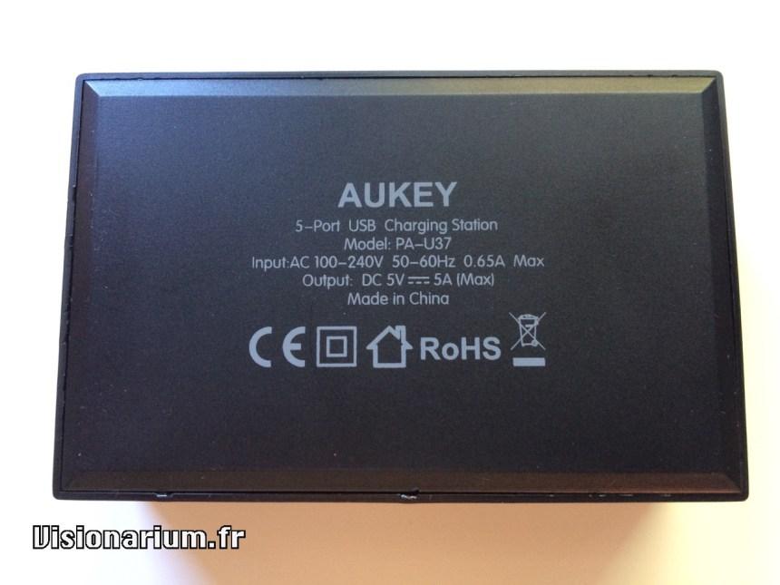 test chargeur Aukey sur Amazon : références