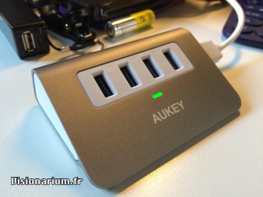 Hub USB Aukey, vue générale
