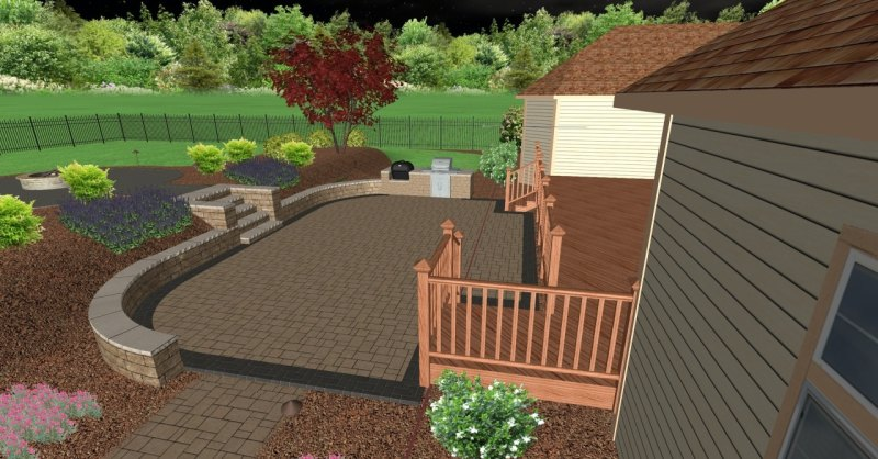 Large Of Backyard Living Area