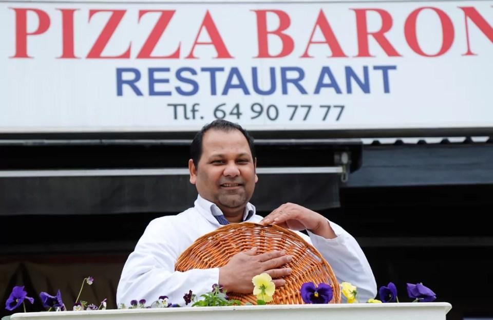 Alltid god og nylaget mat hos Asif Mahmood på Pizza Baron.