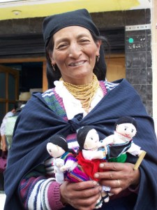 Otavalo lady, with traditional clothes. Otavalo, Ecuador © Carmen Cristina Carpio Tobar