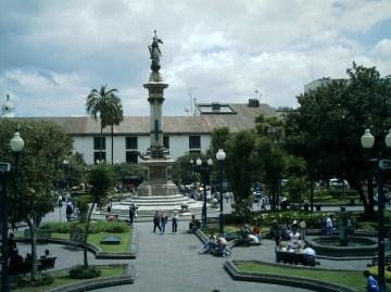 Plaza grande, Quito Ecuador