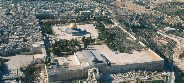 An aerial view of Al Masjid Al Aqsa
