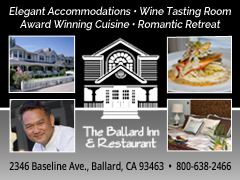 Ballard Inn wine tasting accommodations