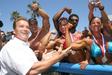 Arnold at Muscle Beach Gym