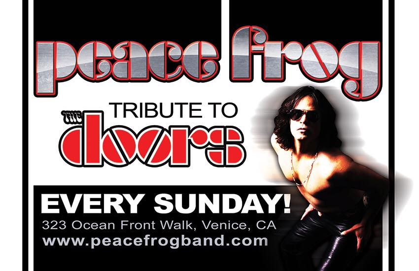 sc 1 st  VisitVeniceCA.com & Peace Frog-Tribute to The Doors every Sunday at the Venice Bistro