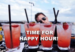 Happy hour by the hour