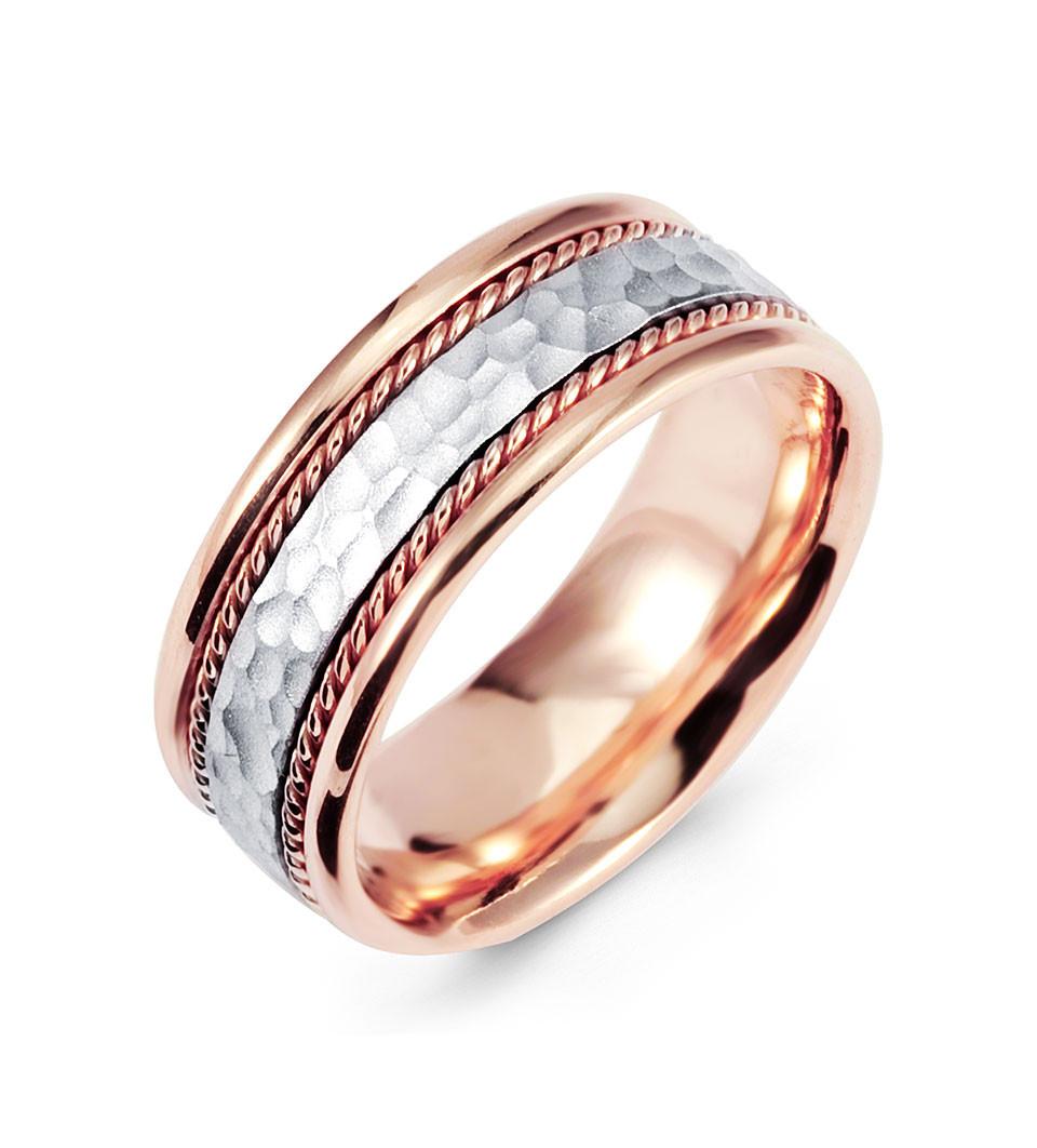 hammered 14k white rose gold milgrain wedding band ring milgrain wedding band Accept