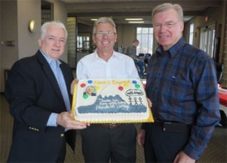 Senior Vice President Phil Thomas, Ian MacDougall, and Best Practice Chair John Schmits
