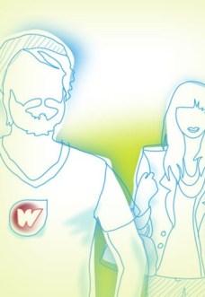 Illustrationen für die Webseite des Startups Witster