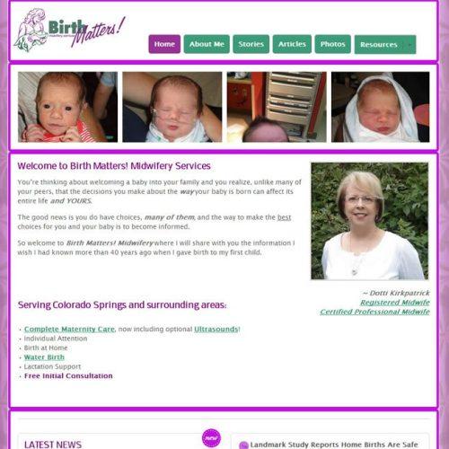 Website Redesign Complete – www.BirthMattersMidwifery.com