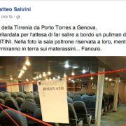 A Salvini e ai suoi seguaci: noi falsi buonisti, voi veri fascisti