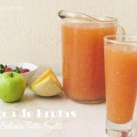 Agua de Frutas (tutti frutti): Bebida fresca y colorida