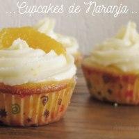 Cupcakes de Naranja con Cobertura de Queso y Naranja