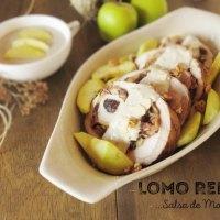 Lomo de Cerdo Relleno Con Salsa de Manzana y Champiñones